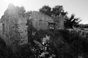 Diese Betonruine liegt gut versteckt zwischen den Ackern in St. Arnold.