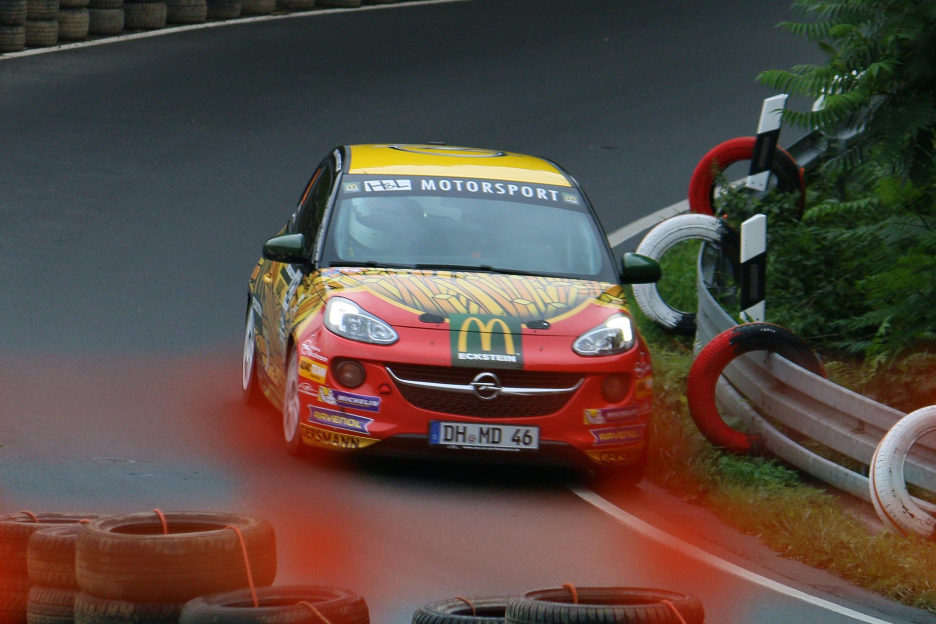 McDonald's Eckstein beim ADAC Bergrennen Borgloh, Osnabrück.